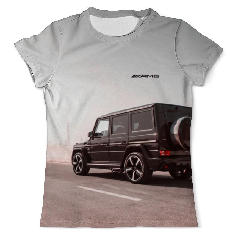 Футболка с полной запечаткой (мужская) Printio Mercedes benz ///amg (гелендваген) футболка с полной запечаткой для мальчиков printio mercedes benz amg гелендваген
