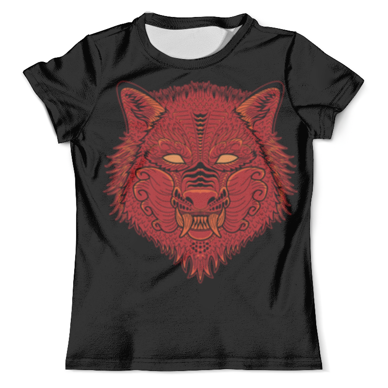 Футболка с полной запечаткой (мужская) Printio Красный волк футболка с полной запечаткой мужская printio красная шапочка и серый волк