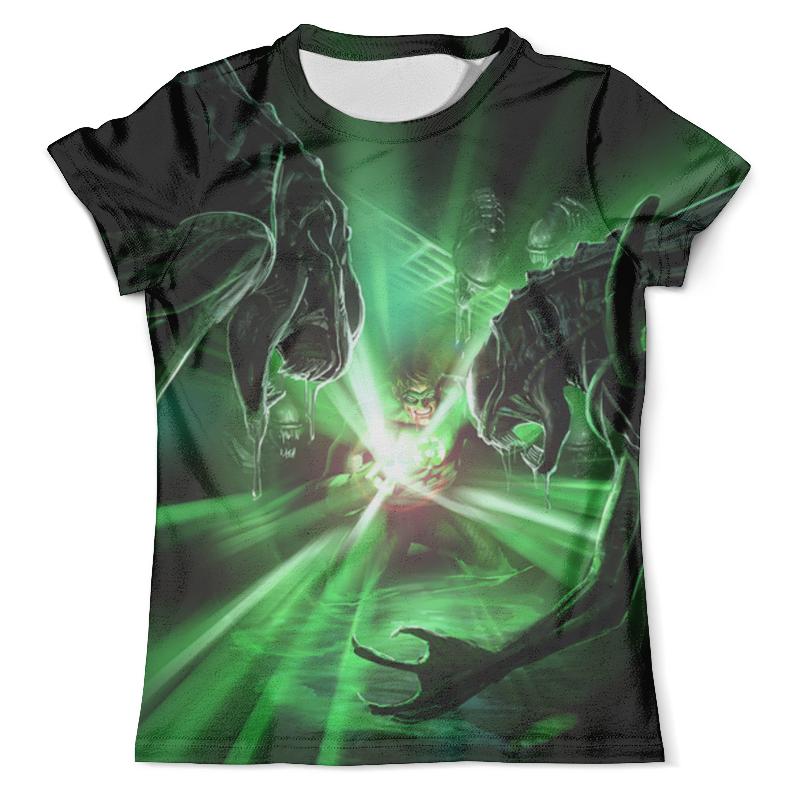 Футболка с полной запечаткой (мужская) Printio Green lantern vs aliens green lantern brightest day