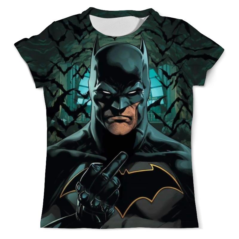 Футболка с полной запечаткой (мужская) Printio Batman gives you the finger футболка с полной запечаткой мужская printio thank you