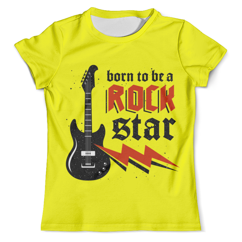 Футболка с полной запечаткой (мужская) Printio Rock star футболка rock star черный s