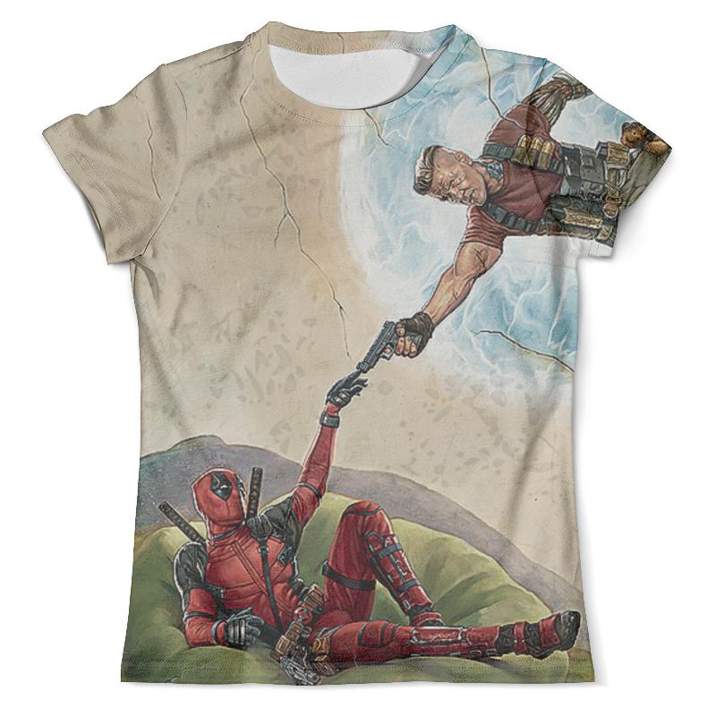 Футболка с полной запечаткой (мужская) Printio Deadpool 2018 design цены