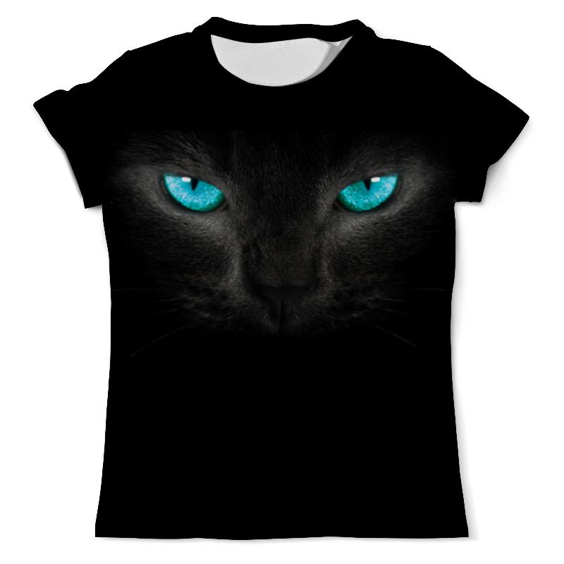 Футболка с полной запечаткой (мужская) Printio Взгляд черной кошки свитшот print bar взгляд кошки