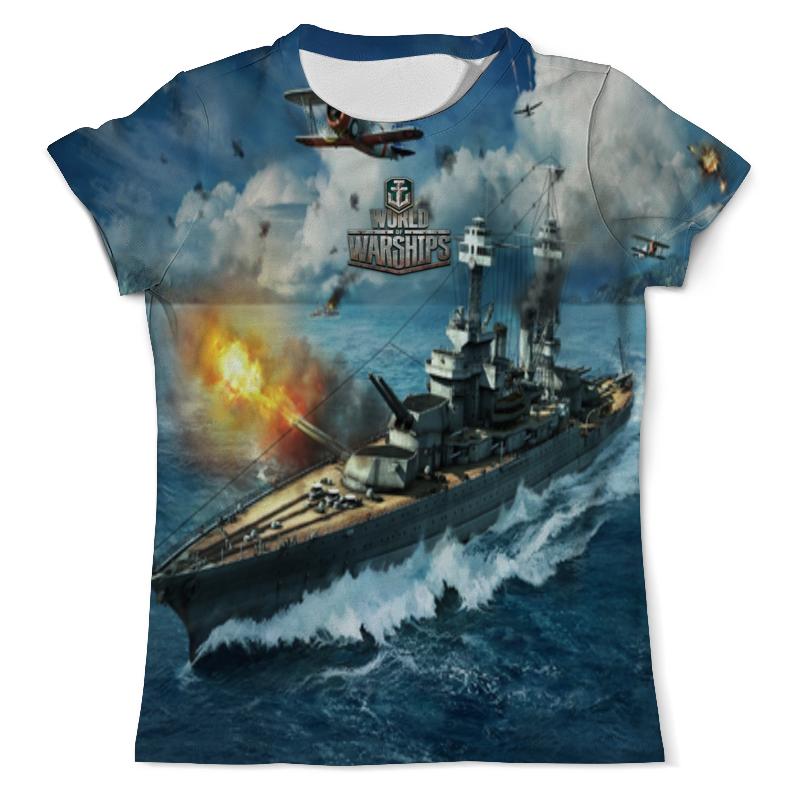 Футболка с полной запечаткой (мужская) Printio World of warships