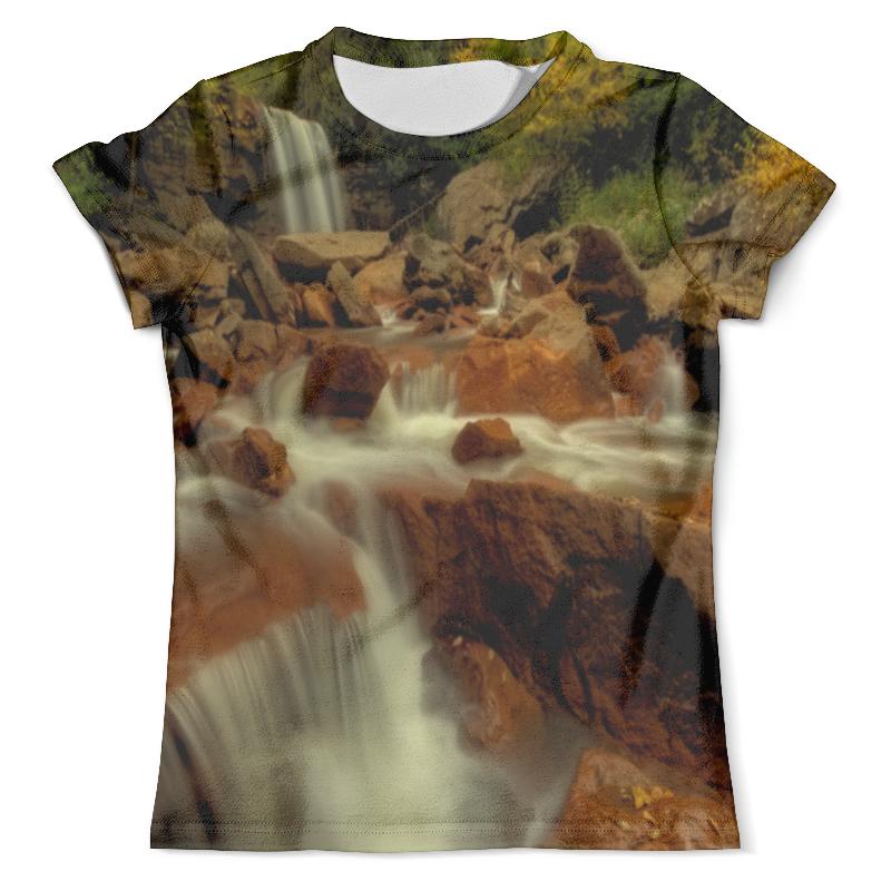 Футболка с полной запечаткой (мужская) Printio Горный ручей футболка с полной запечаткой для мальчиков printio горный ручей