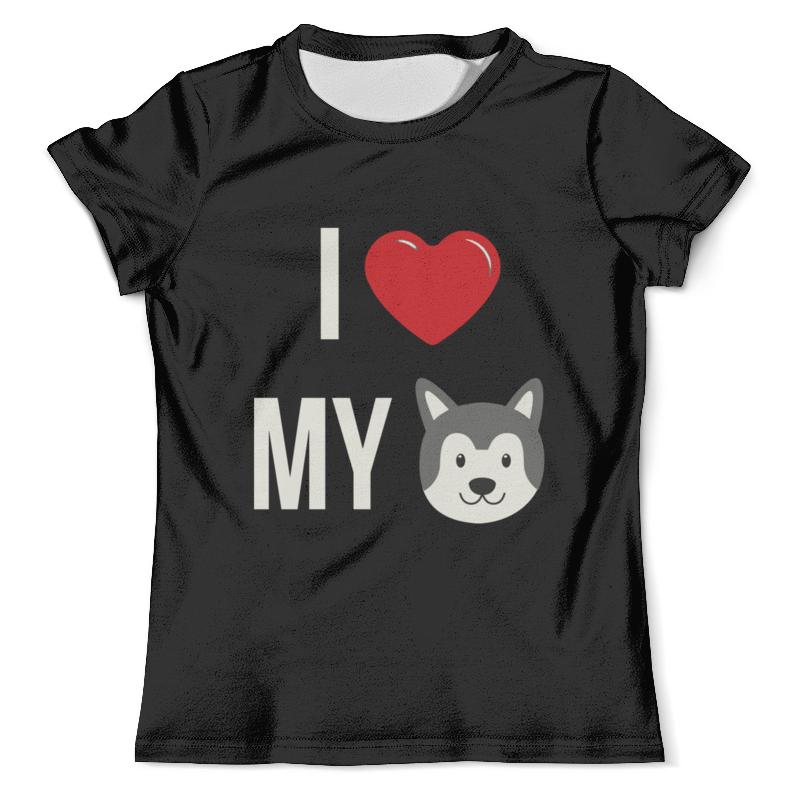 Футболка с полной запечаткой (мужская) Printio Я люблю свою собаку футболка с полной запечаткой мужская printio ver thik her ek kom берегись я иду