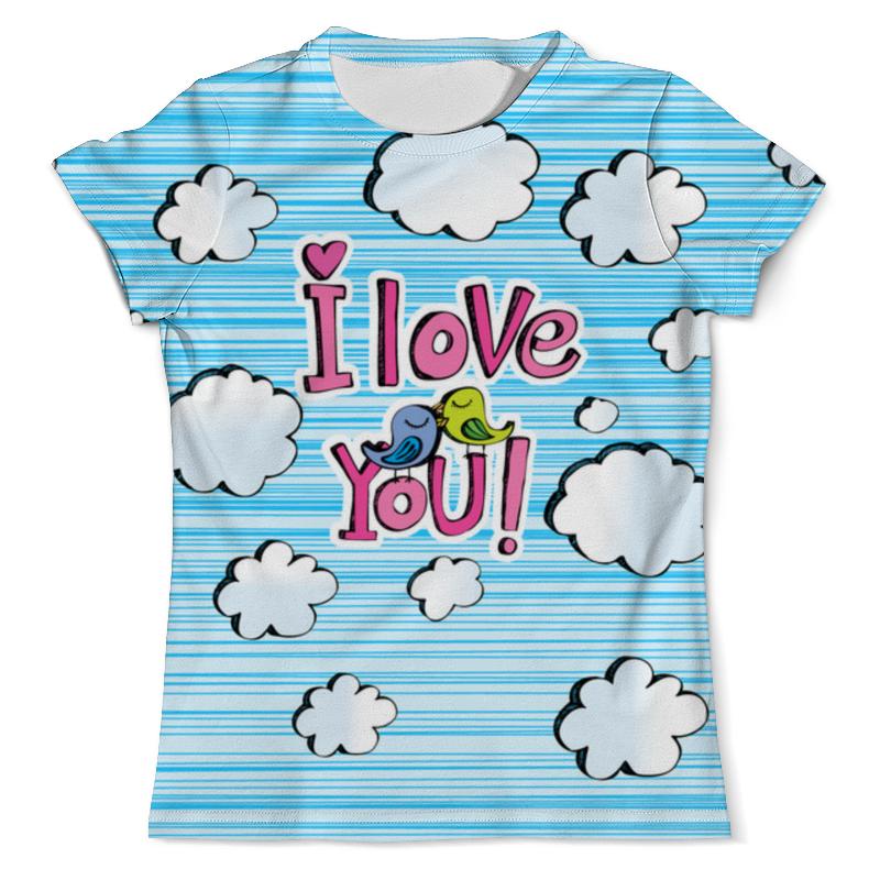 Футболка с полной запечаткой (мужская) Printio Птички в облачках футболка с полной запечаткой мужская printio в клетку