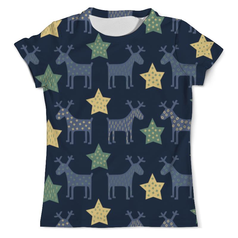 Printio Новогодние олени футболка с полной запечаткой мужская printio новогодние олени