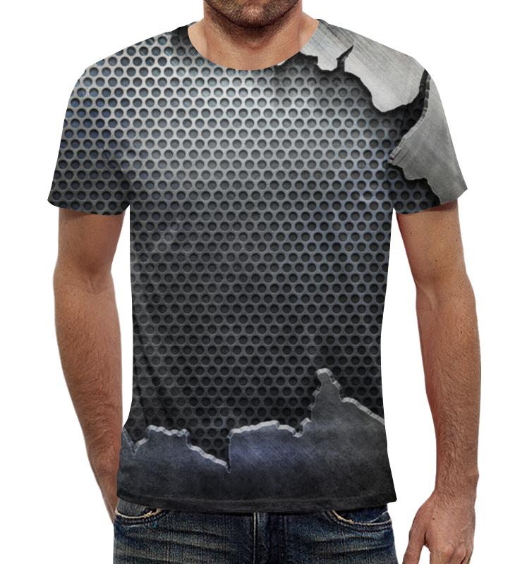 Футболка с полной запечаткой Printio Железное тело железное ведро
