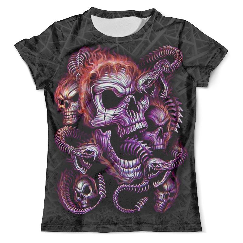 Футболка с полной запечаткой (мужская) Printio Skulls and snakes (halloween) худи print bar skulls and bones