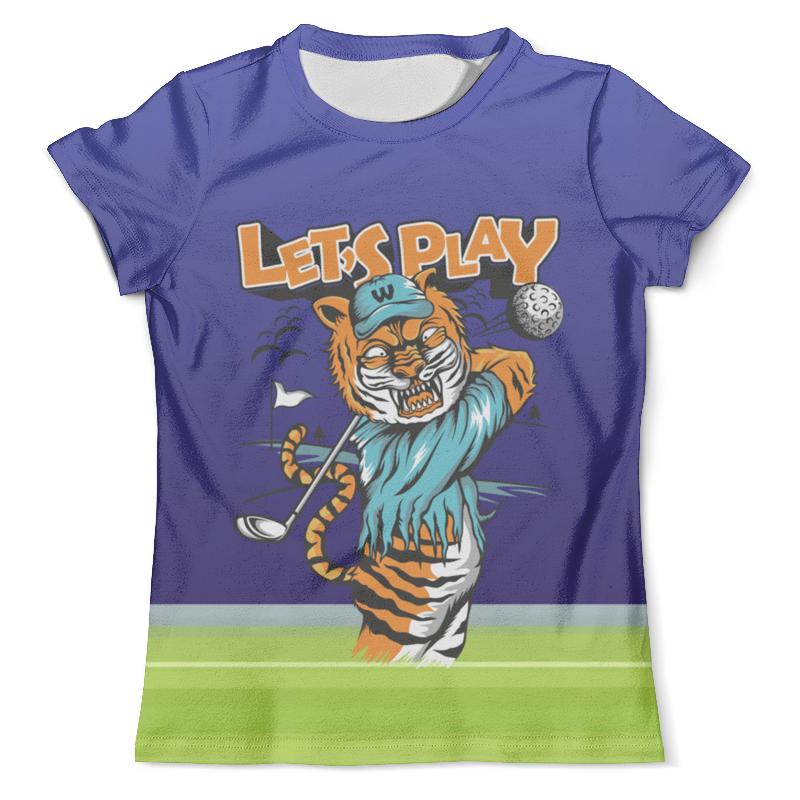 Футболка с полной запечаткой (мужская) Printio Тигр гольфист футболка с полной запечаткой мужская printio одноглазый тигр