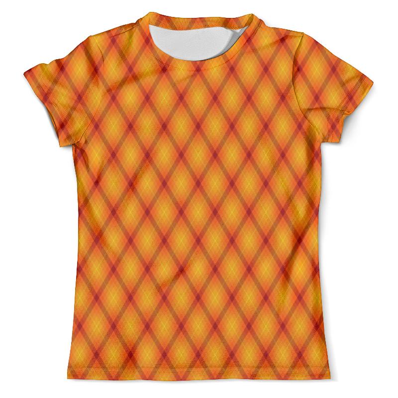 Футболка с полной запечаткой (мужская) Printio Клетка оранжевая футболка мужская kellys dirt хлопок полиэстер оранжевая s men s dirt tshirt