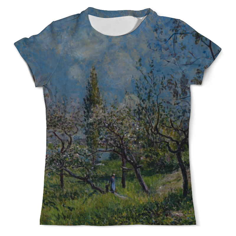 Футболка с полной запечаткой (мужская) Printio Фруктовый сад весной (альфред сислей) сислей а альфред сислей альбом