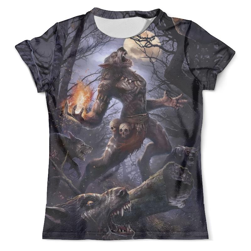 Футболка с полной запечаткой (мужская) Printio Shaman's wolf футболка print bar wolf motivation