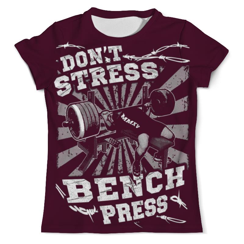 купить Футболка с полной запечаткой (мужская) Printio Bench press по цене 1190 рублей