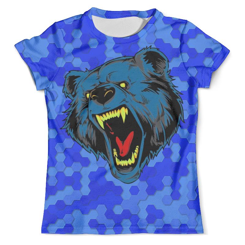 Футболка с полной запечаткой (мужская) Printio Blue bear big lovely lying bear dolls huge squinting bear with blue cloth plush toy doll birthday gift about 130cm