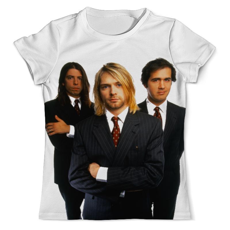Футболка с полной запечаткой (мужская) Printio Nirvana group full print футболка с полной запечаткой для мальчиков printio nirvana bleach full print