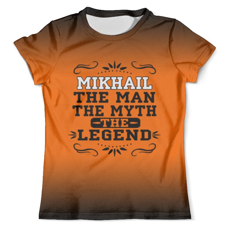 Футболка с полной запечаткой (мужская) Printio Михаил the legend футболка с полной запечаткой мужская printio стекло михаил ларионов