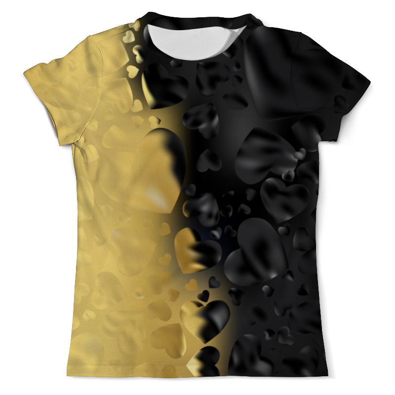 Printio Сердца черно-золотые свитшот мужской с полной запечаткой printio сердца черно золотые