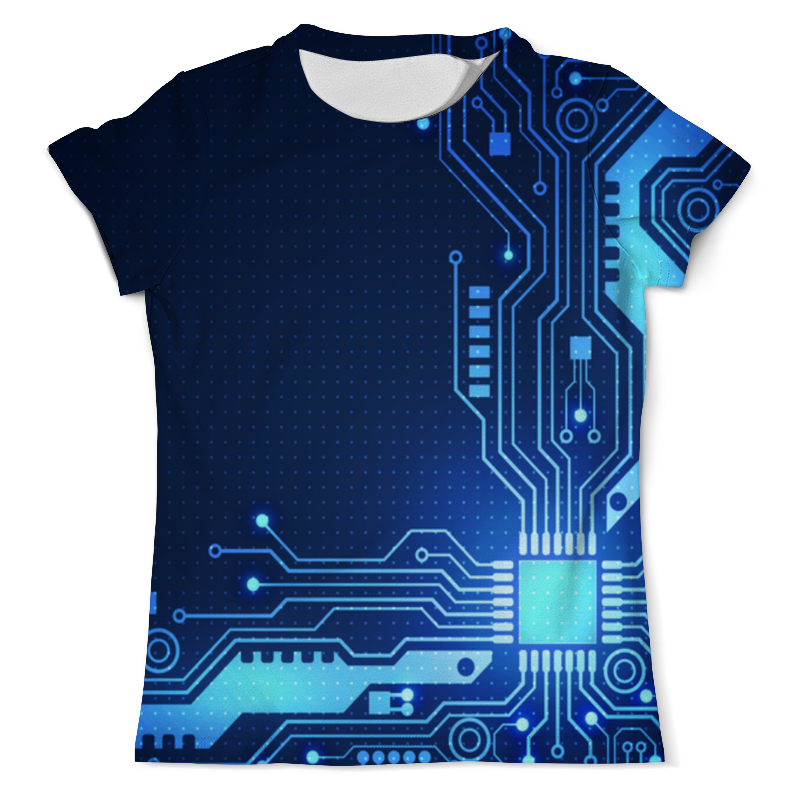 Футболка с полной запечаткой (мужская) Printio Микросхема футболка с полной запечаткой для девочек printio микросхема