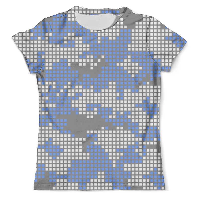 Футболка с полной запечаткой (мужская) Printio Пиксельный камуфляж