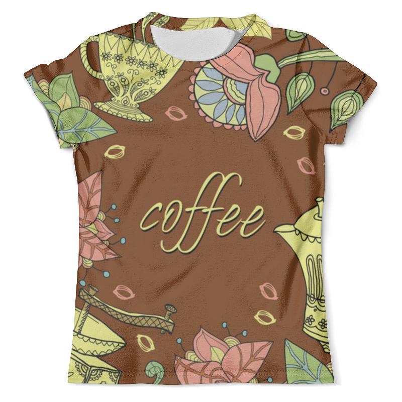 Футболка с полной запечаткой (мужская) Printio Я люблю кофе футболка с полной запечаткой мужская printio я тебя люблю арт