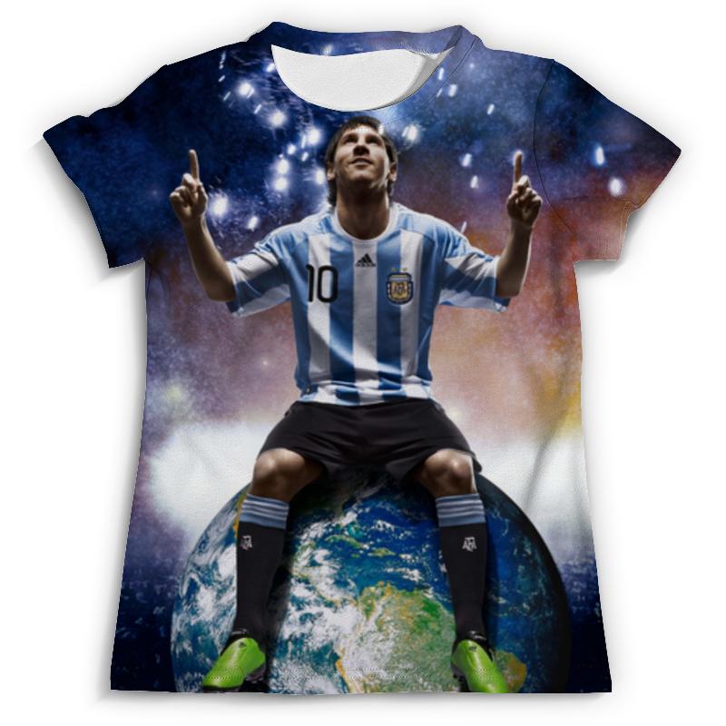 Футболка с полной запечаткой (мужская) Printio Messi футболка классическая printio messi