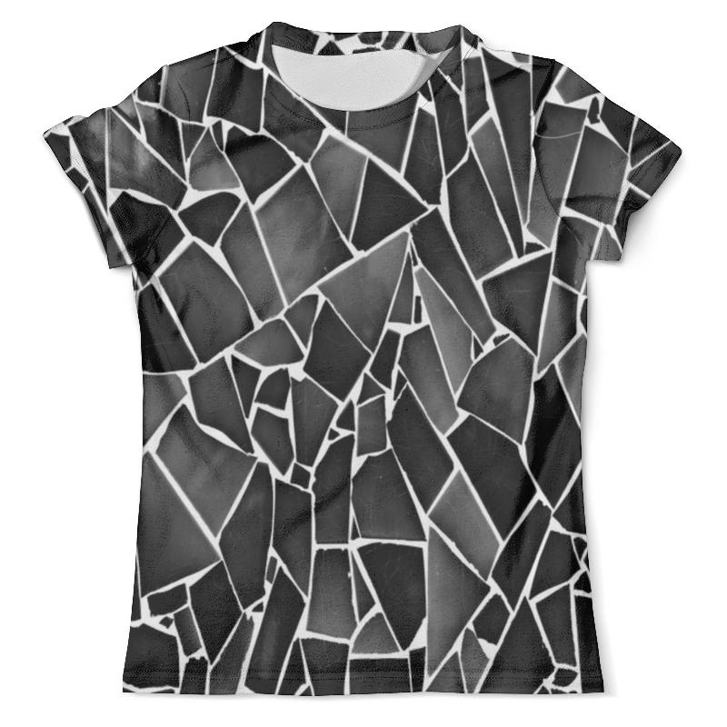 Футболка с полной запечаткой (мужская) Printio Черно-белая мозаика