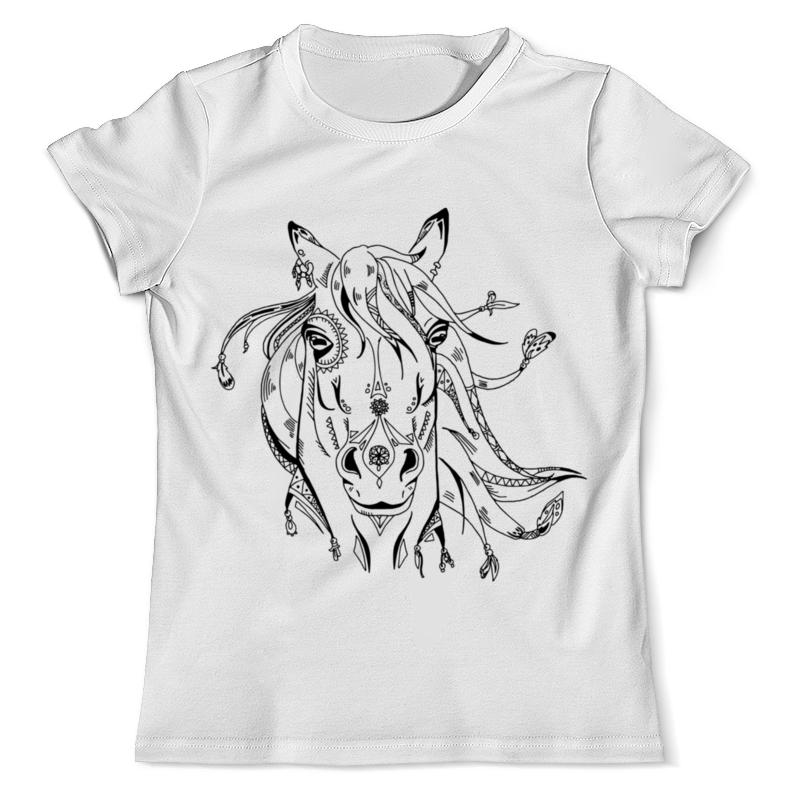 Футболка с полной запечаткой (мужская) Printio Милая лошадь футболка с полной запечаткой мужская printio огненная лошадь