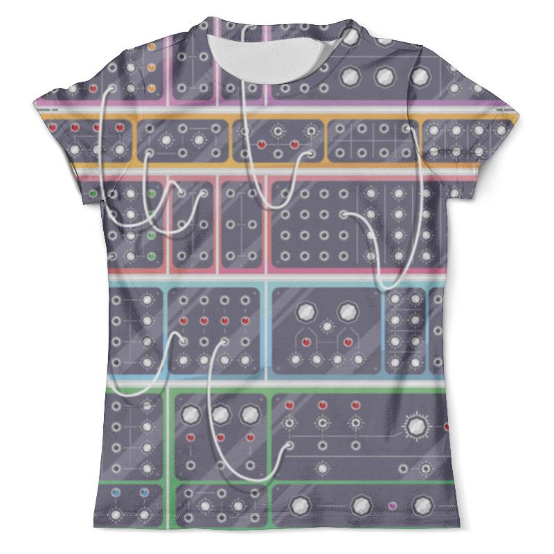 Футболка с полной запечаткой (мужская) Printio Modular synthesizer free shipping chrome diamond shift linkage for harley davidson softail fxdwg flhr flt flht page 1