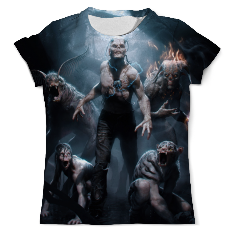 Футболка с полной запечаткой (мужская) Printio Зомби / zombie футболка с полной запечаткой мужская printio zombie ice