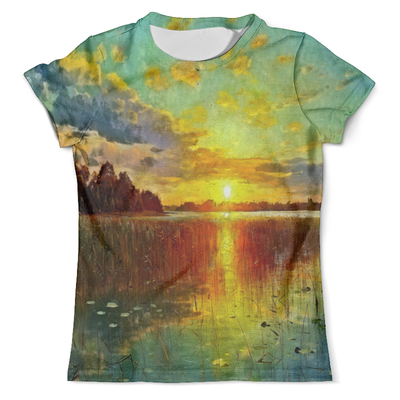 Футболка с полной запечаткой (мужская) Printio Закат у озера футболка с полной запечаткой мужская printio х у й ё б