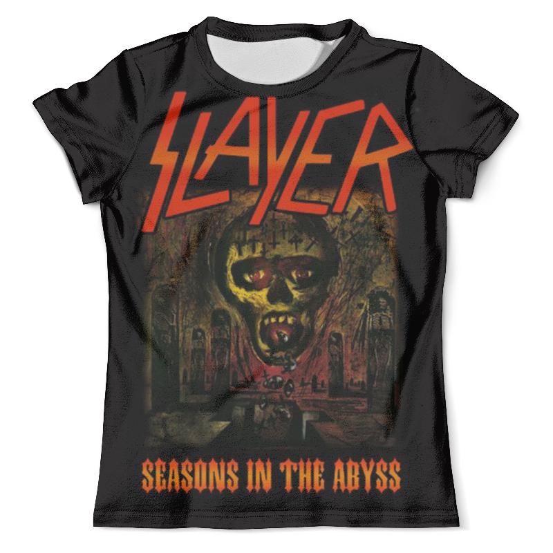 Футболка с полной запечаткой (мужская) Printio Slayer season in the abyss 1990 майка классическая printio slayer season in the abyss 1990