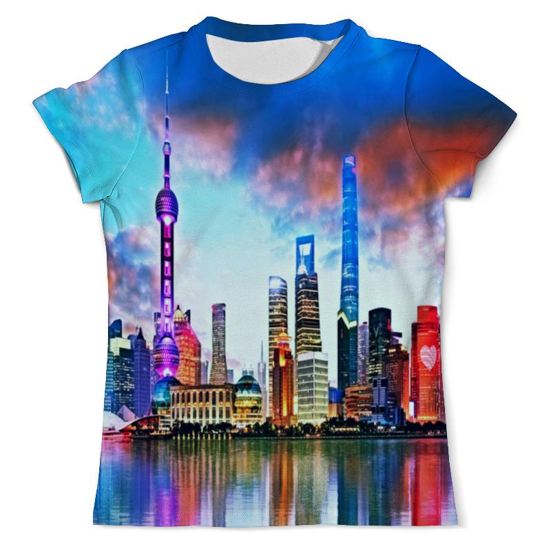 Футболка с полной запечаткой (мужская) Printio Город в красках футболка с полной запечаткой мужская printio осень город такси тоска