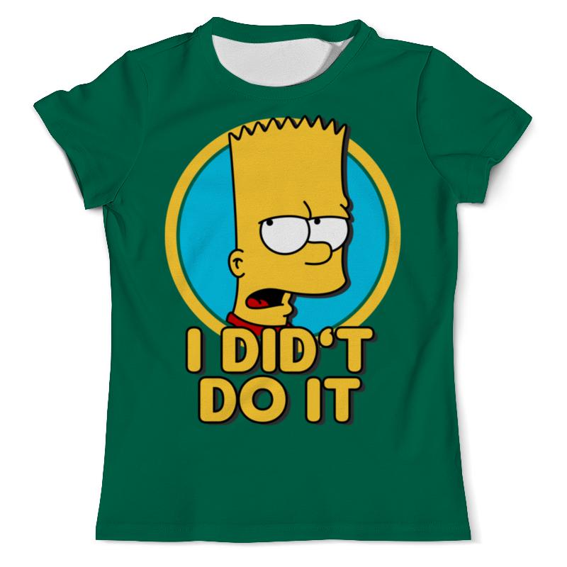 Printio Барт симпсон. я этого не делал футболка с полной запечаткой мужская printio я не мгу больше учиться