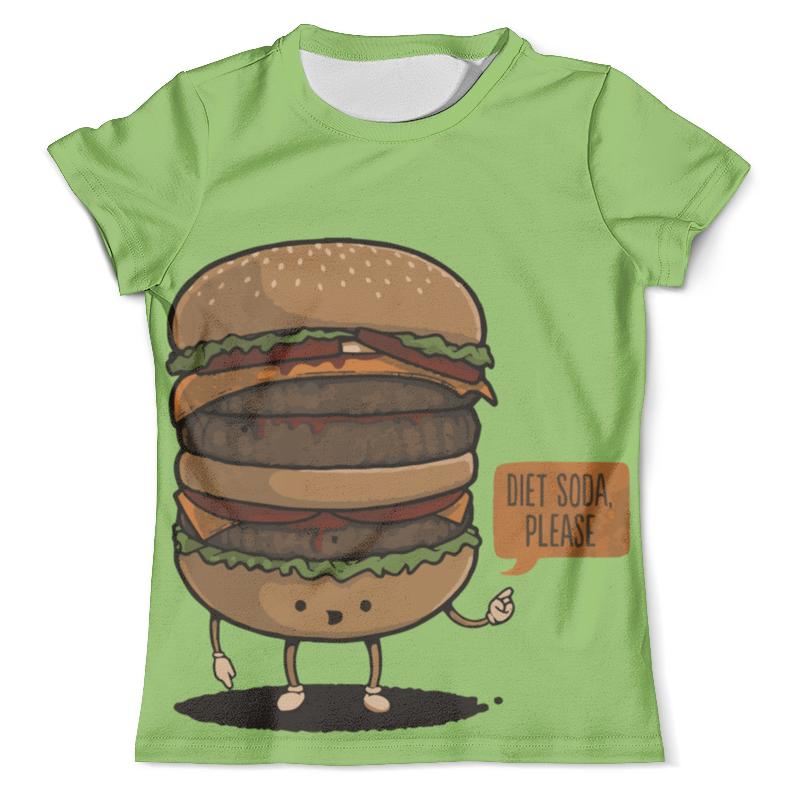 Футболка с полной запечаткой (мужская) Printio Diet burger / бургер лонгслив printio diet burger бургер
