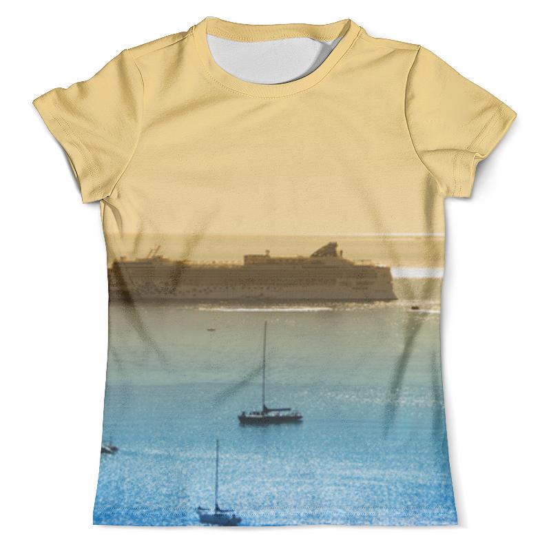 Футболка с полной запечаткой (мужская) Printio Корабли на море врублевская г море корабли девушка роман