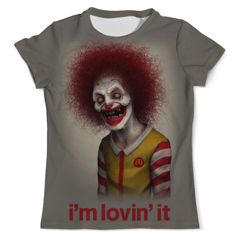 Футболка с полной запечаткой (мужская) Printio Макдональдс - я люблю это футболка с полной запечаткой мужская printio я тебя люблю арт