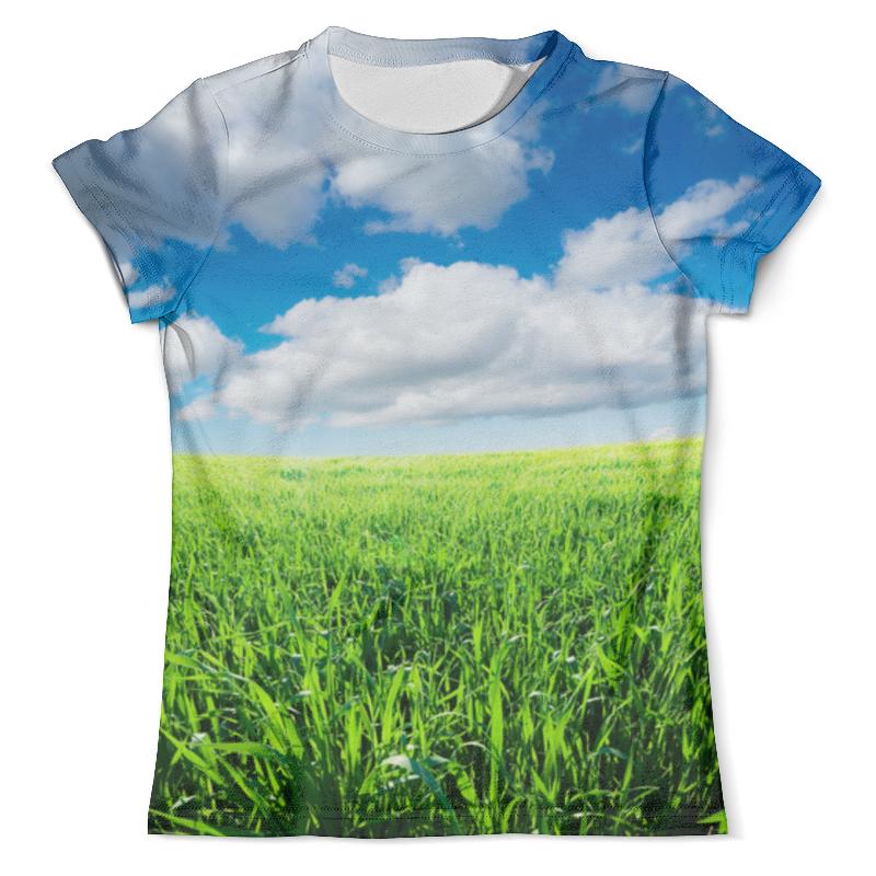Футболка с полной запечаткой (мужская) Printio Летнее поле ясным днем футболка с полной запечаткой мужская printio летнее солнцестояние эдвард роберт хьюз