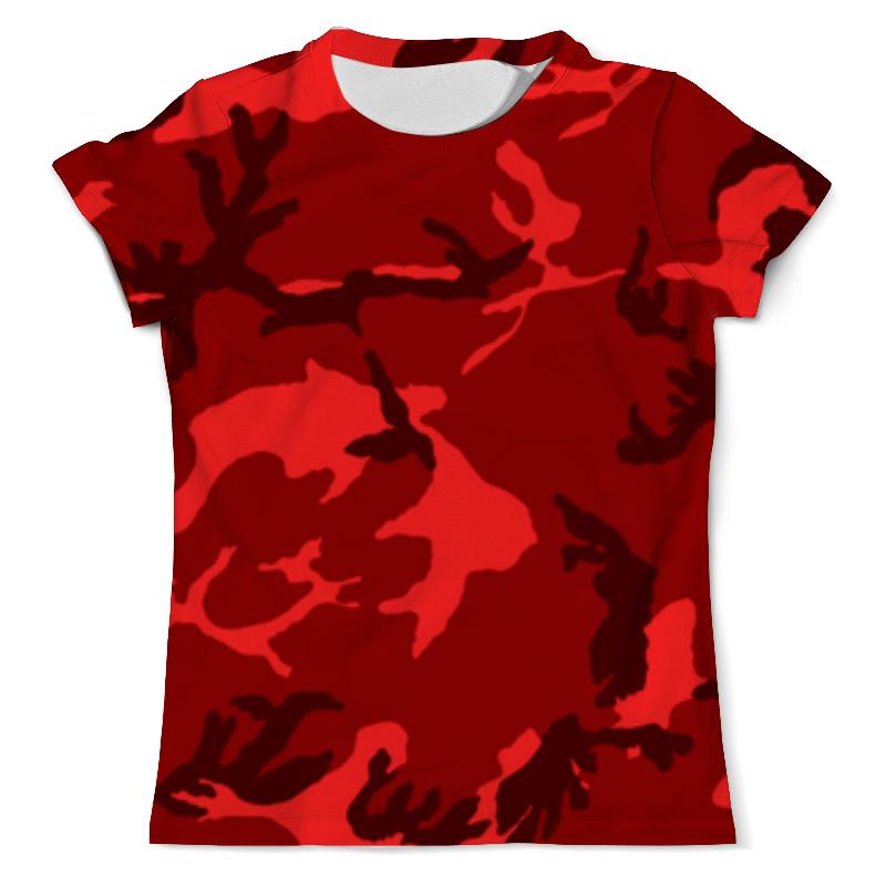 Футболка с полной запечаткой (мужская) Printio Красный камуфляж футболка с полной запечаткой мужская printio яркий камуфляж