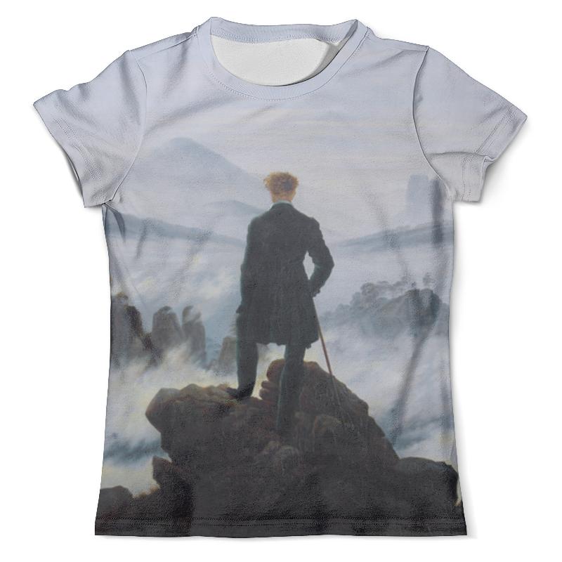 Футболка с полной запечаткой (мужская) Printio Странник над морем тумана вышел ангел из тумана