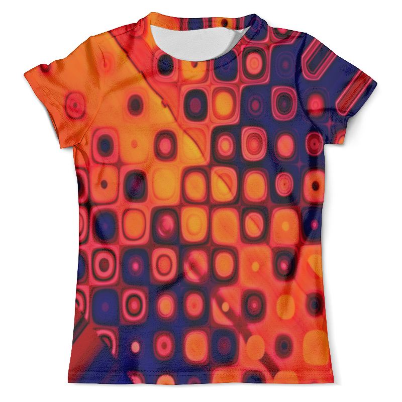 Футболка с полной запечаткой (мужская) Printio Яркие кубики футболка print bar кубики