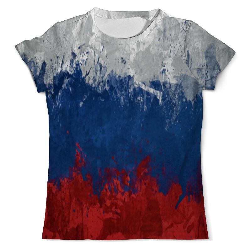 купить Футболка с полной запечаткой (мужская) Printio Флаг российской федерации по цене 1190 рублей