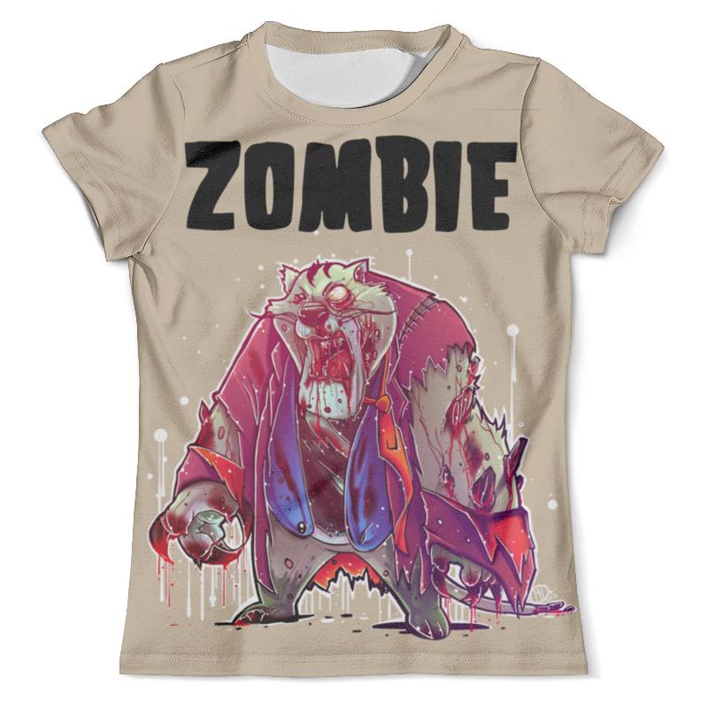 Футболка с полной запечаткой (мужская) Printio Zombie cat