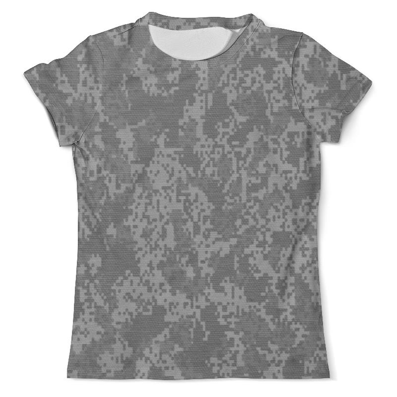 Футболка с полной запечаткой (мужская) Printio Серый пиксельный камуфляж футболка с полной запечаткой мужская printio пиксельный разрыв я в порядке