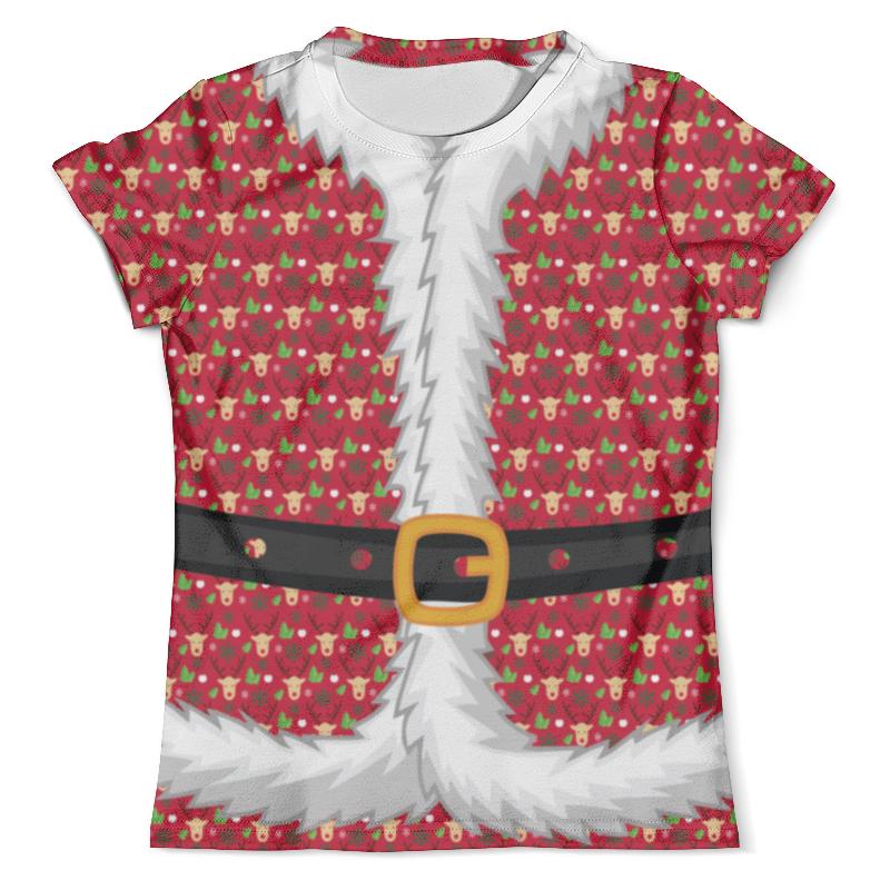 Футболка с полной запечаткой (мужская) Printio Костюм санты (деда мороза) костюм рождественской санты 40 44