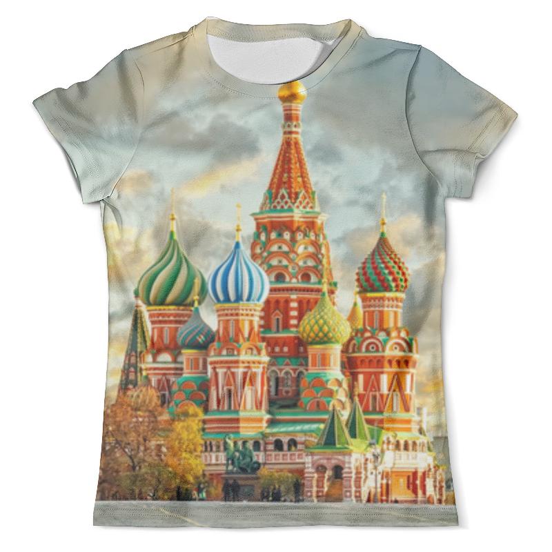 Футболка с полной запечаткой (мужская) Printio Москва (россия) майка классическая printio храм василия блаженного