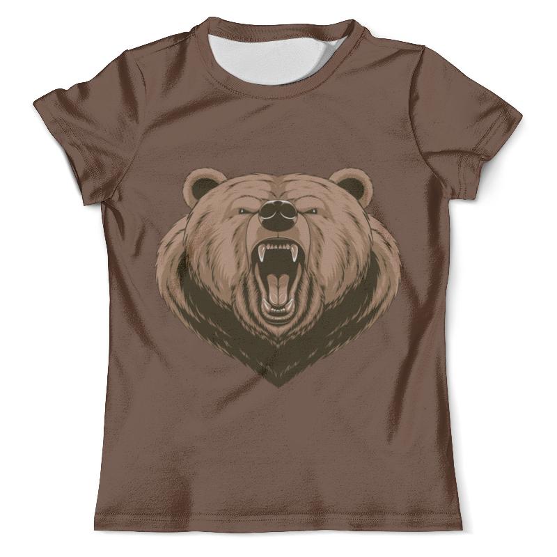 Футболка с полной запечаткой (мужская) Printio Медведь футболка черная мужская без рисунка