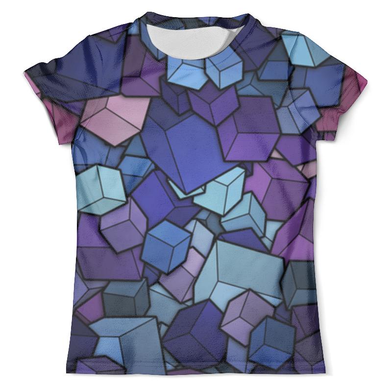 Футболка с полной запечаткой (мужская) Printio Abstract cubes