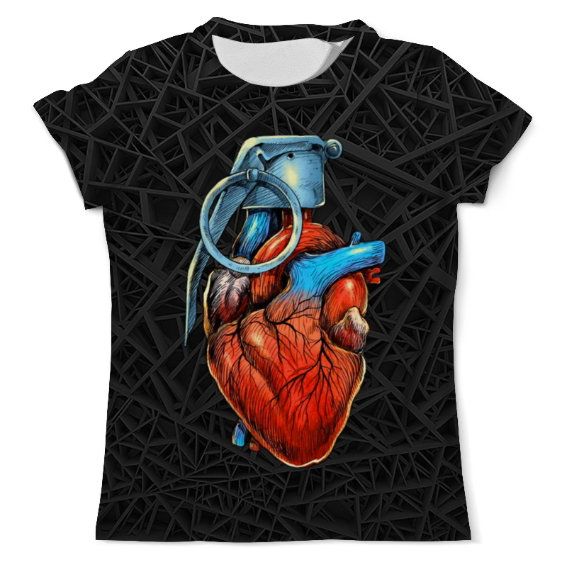 Футболка с полной запечаткой (мужская) Printio Blasting heart цены онлайн